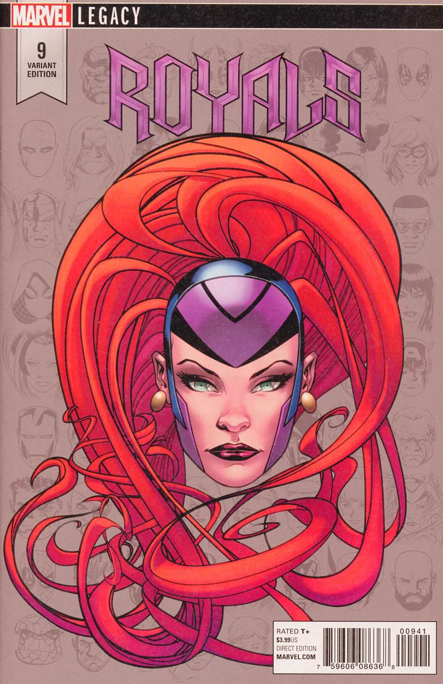 Royals #9 Cover E Incentive Mike McKone Legacy Headshot Variant Cover (Marvel Legacy Tie-In)