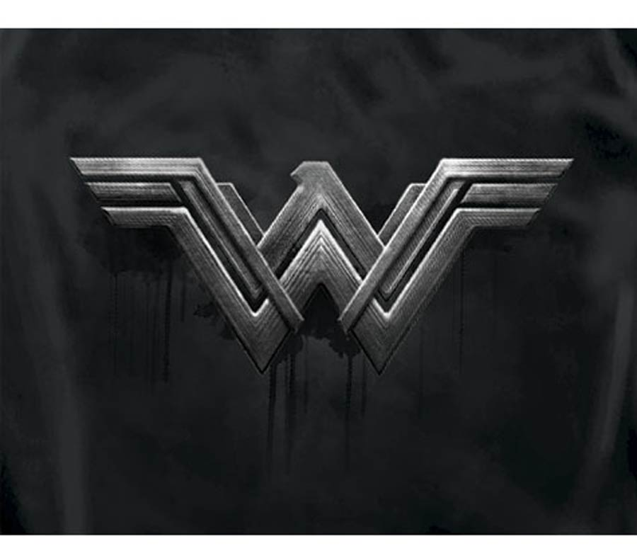 Justice League Movie Wonder Woman Symbol Womens T-Shirt Large