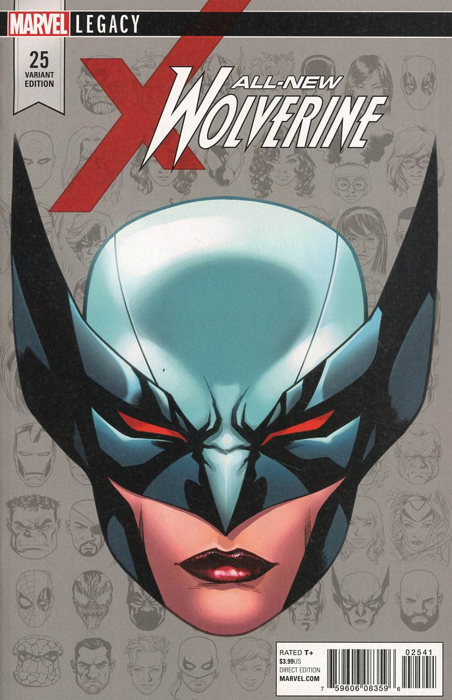 All-New Wolverine #25 Cover E Incentive Mike McKone Legacy Headshot Variant Cover (Marvel Legacy Tie-In)