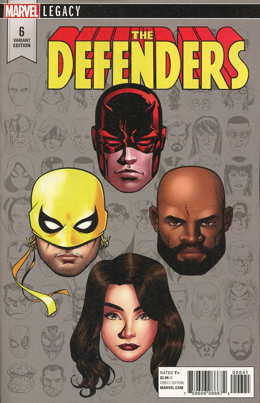 Defenders Vol 5 #6 Cover D Incentive Mike McKone Legacy Headshot Variant Cover (Marvel Legacy Tie-In)