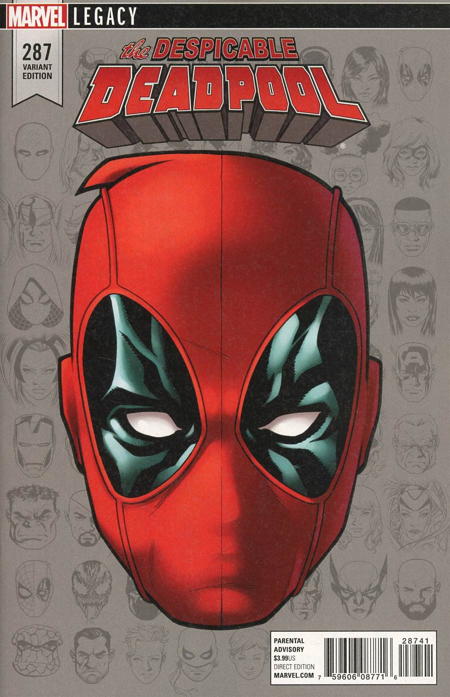 Despicable Deadpool #287 Cover E Incentive Mike McKone Legacy Headshot Variant Cover (Marvel Legacy Tie-In)