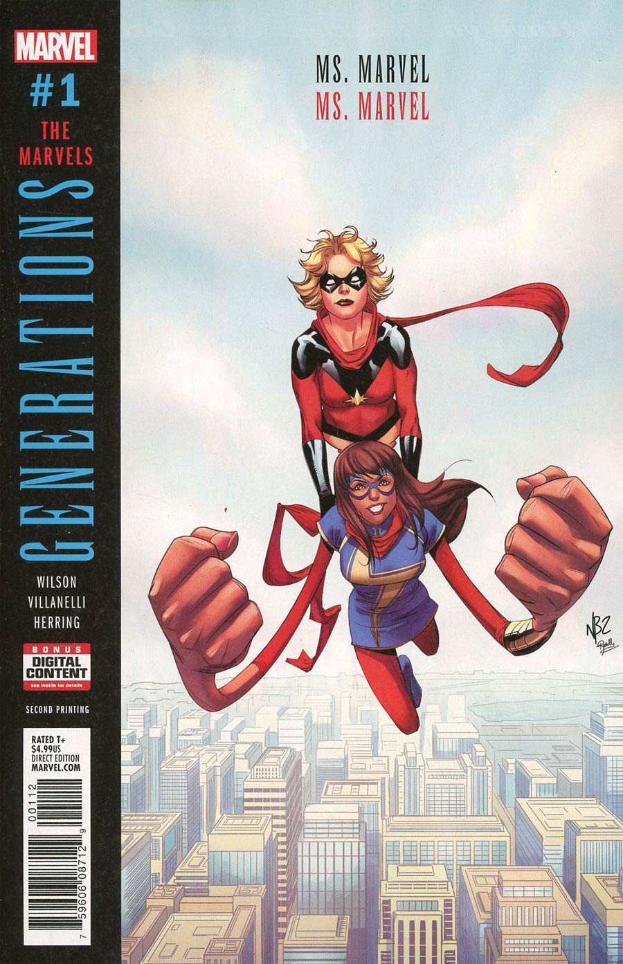 Generations Ms Marvel & Ms Marvel #1 Cover D 2nd Ptg Variant Nelson Blake Cover