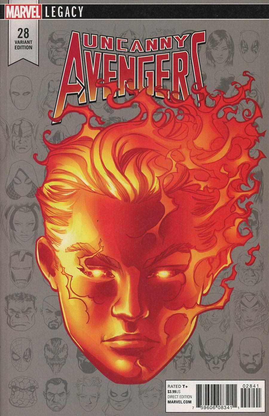 Uncanny Avengers Vol 3 #28 Cover D Incentive Mike McKone Legacy Headshot Variant Cover (Marvel Legacy Tie-In)