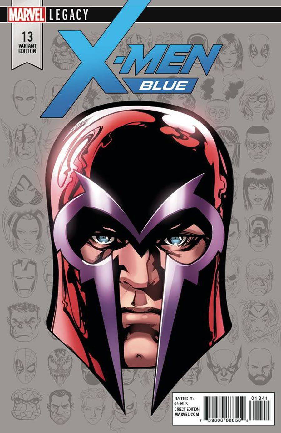 X-Men Blue #13 Cover C Incentive Mike McKone Legacy Headshot Variant Cover (Mojo Worldwide Part 2)(Marvel Legacy Tie-In)