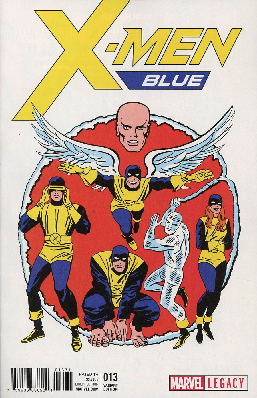 X-Men Blue #13 Cover D Incentive Jack Kirby 1965 T-Shirt Variant Cover (Mojo Worldwide Part 2)(Marvel Legacy Tie-In)