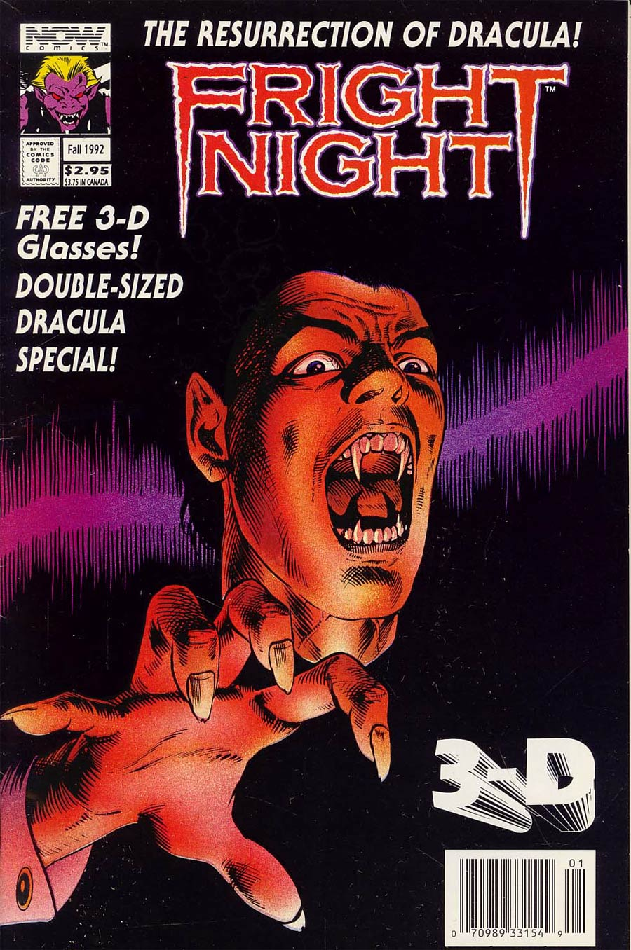 Fright Night 3-D Fall 1992 Special #1 Cover A With Polybag
