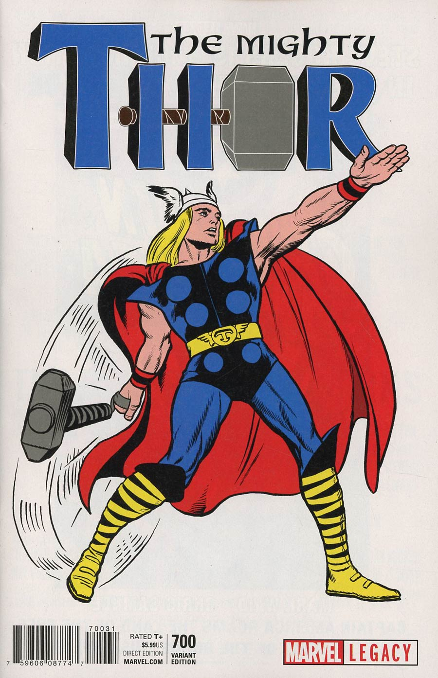 Mighty Thor Vol 2 #700 Cover H Incentive Jack Kirby 1965 T-Shirt Variant Cover (Marvel Legacy Tie-In)