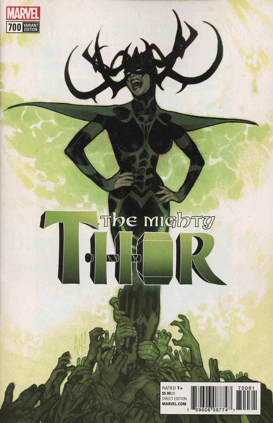 Mighty Thor Vol 2 #700 Cover J Incentive Adam Hughes Variant Cover (Marvel Legacy Tie-In)