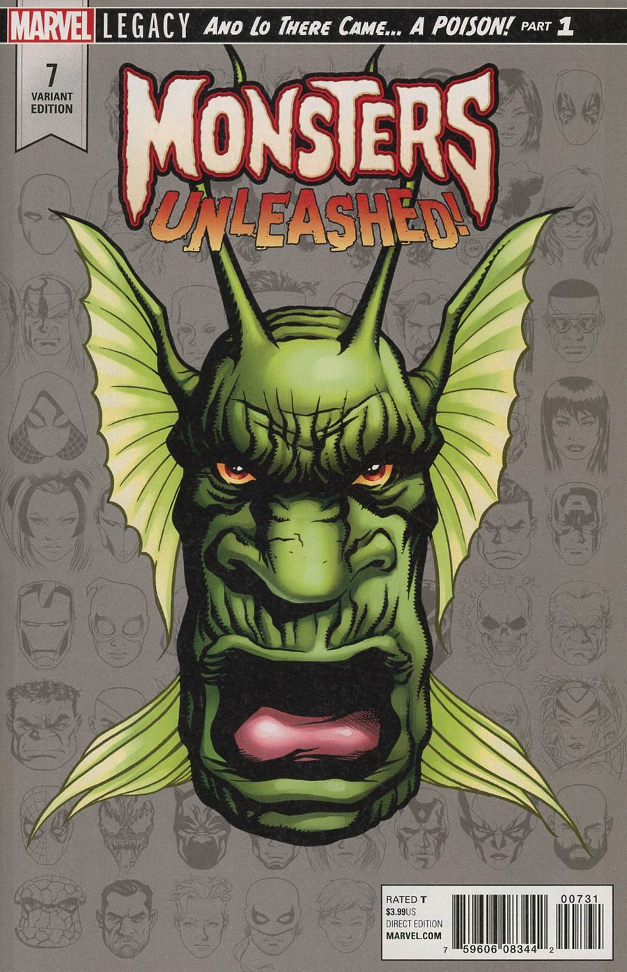 Monsters Unleashed Vol 2 #7 Cover C Incentive Mike McKone Legacy Headshot Variant Cover (Marvel Legacy Tie-In)