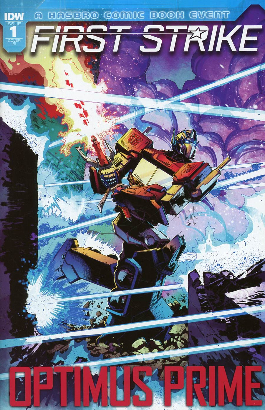 Optimus Prime First Strike #1 Cover C Incentive Nick Bradshaw Variant Cover