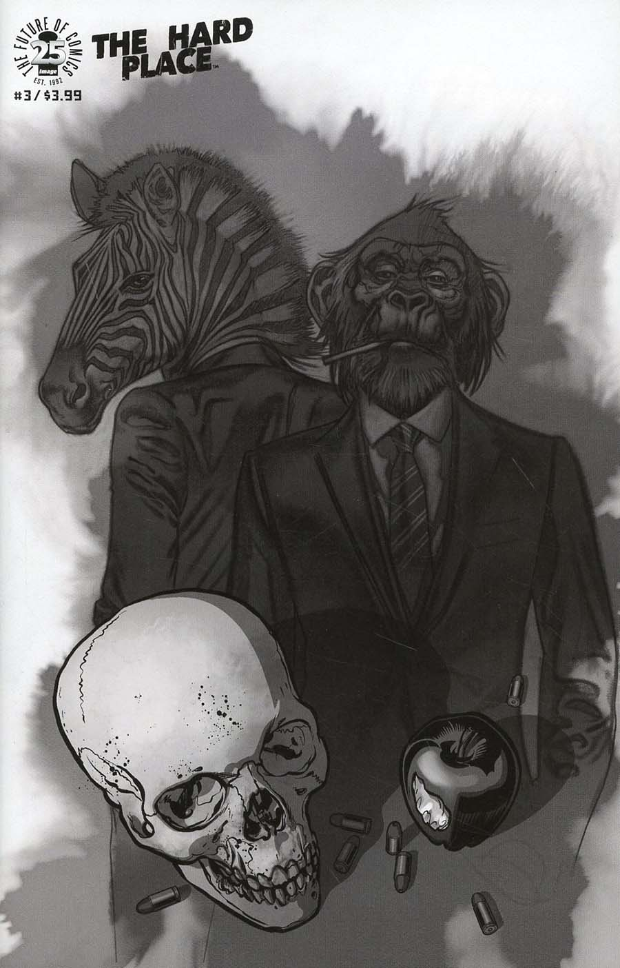 Hard Place #3 Cover C Incentive Brian Stelfreeze Black & White Cover