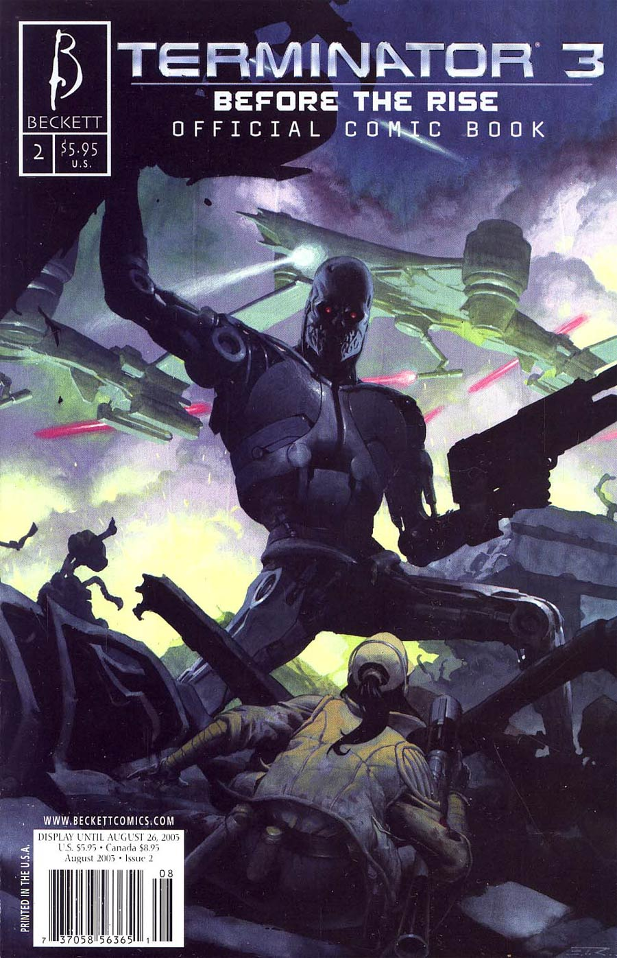 Terminator 3 #2 Before The Rise Cover B Ribic Cover
