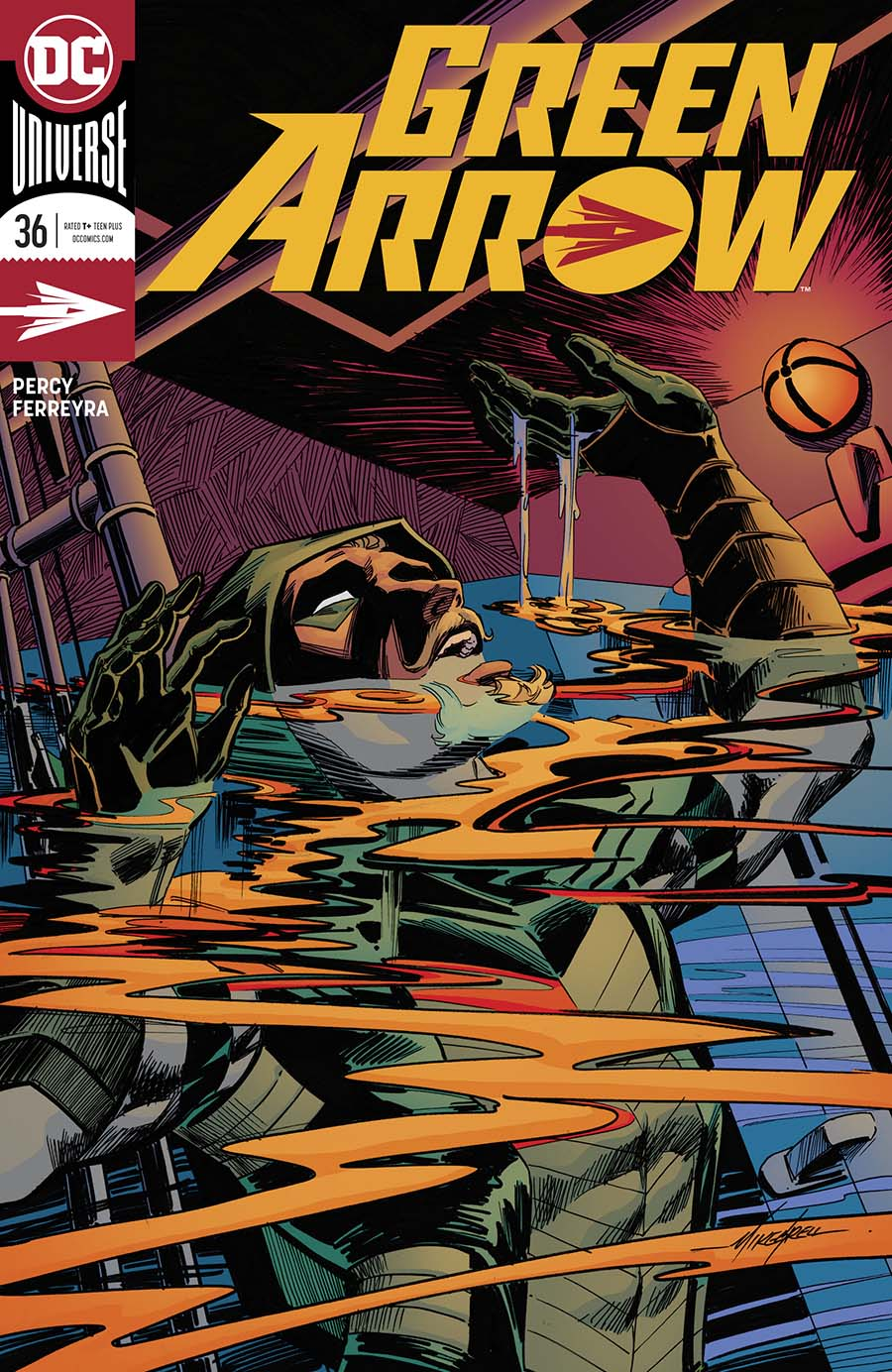 Green Arrow Vol 7 #36 Cover B Variant Mike Grell Cover