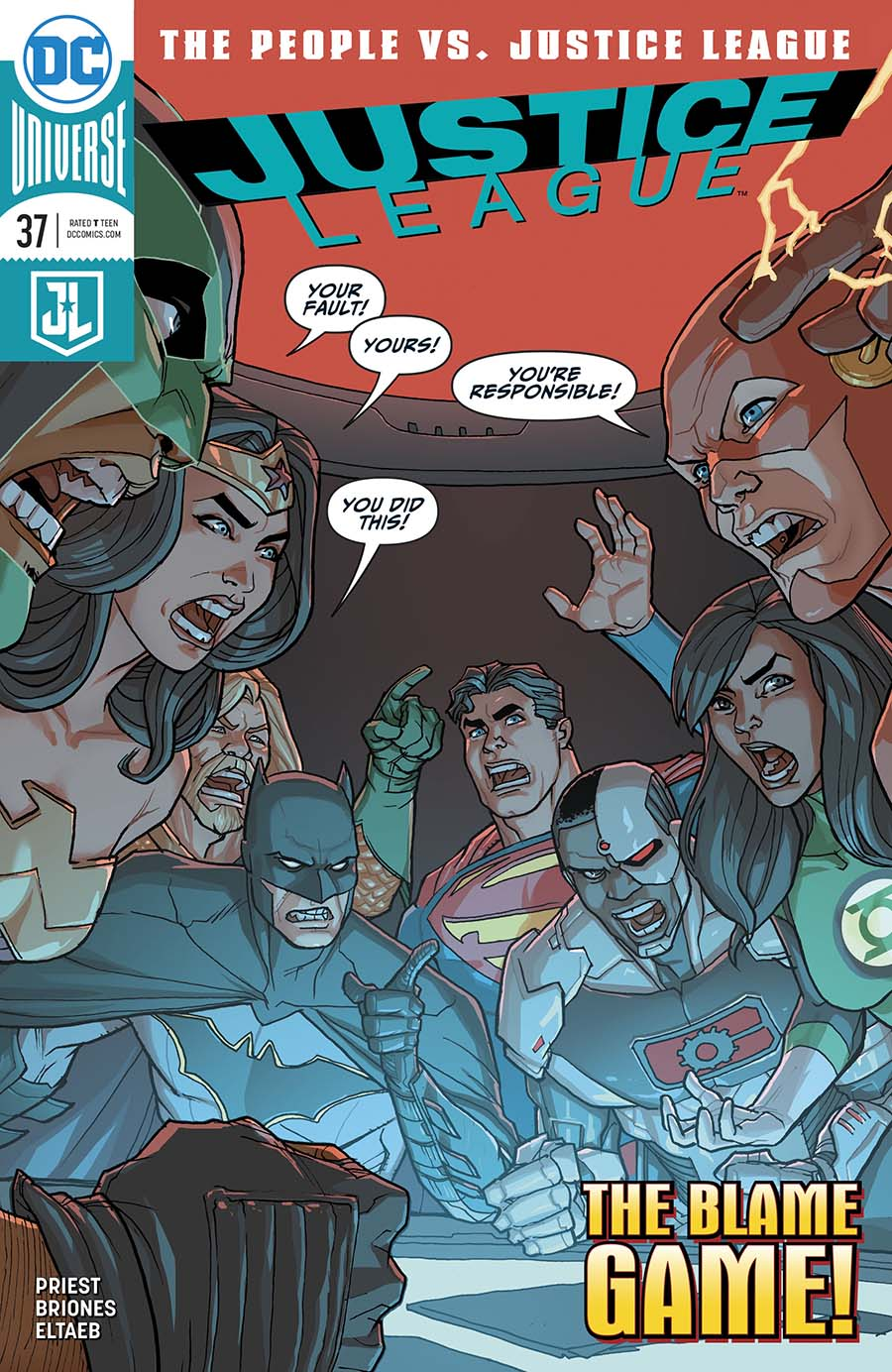 Justice League Vol 3 #37 Cover A Regular Pete Woods Cover