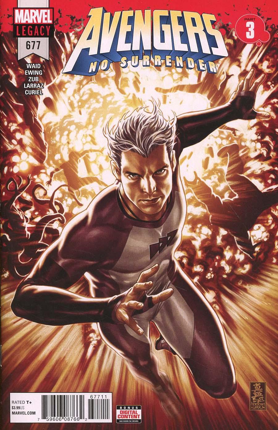 Avengers Vol 6 #677 Cover A 1st Ptg Regular Mark Brooks Cover (No Surrender Part 3)(Marvel Legacy Tie-In)