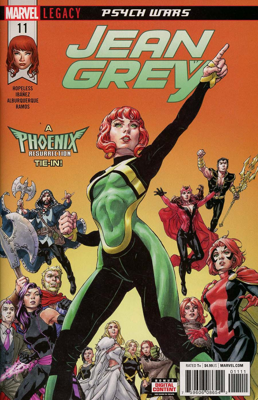 Jean Grey #11 Cover A Regular David Yardin Cover (Phoenix Resurrection Return Of (Adult) Jean Grey Tie-In)(Marvel Legacy Tie-In)