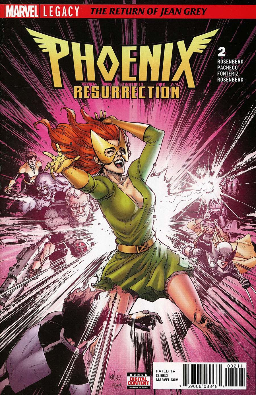 Phoenix Resurrection Return Of (Adult) Jean Grey #2 Cover A Regular Leinil Francis Yu Cover (Marvel Legacy Tie-In)