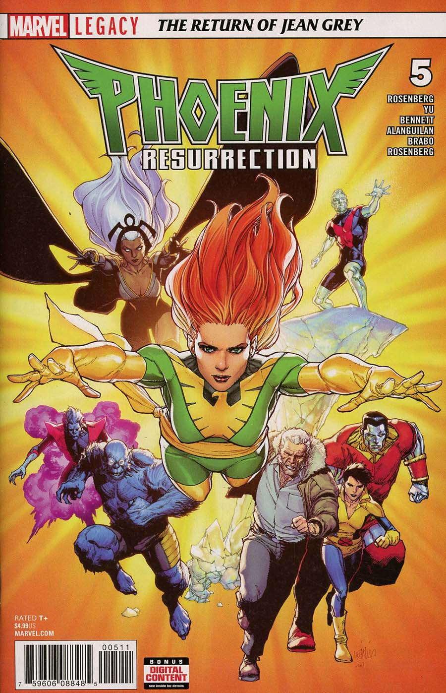 Phoenix Resurrection Return Of (Adult) Jean Grey #5 Cover A Regular Leinil Francis Yu Cover (Marvel Legacy Tie-In)