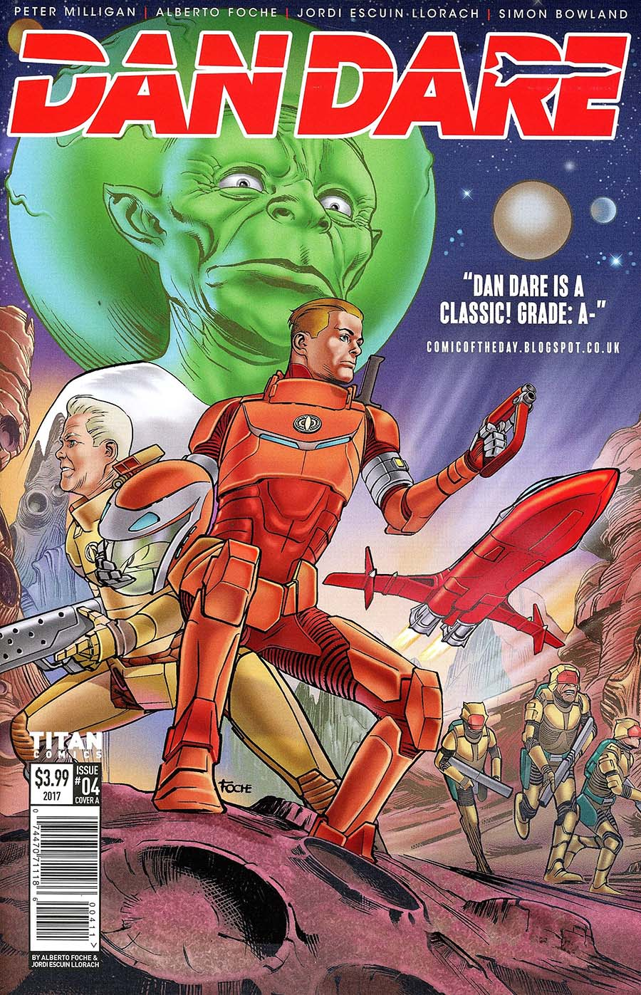 Dan Dare Vol 2 #4 Cover A Regular Alberto Fouche Cover