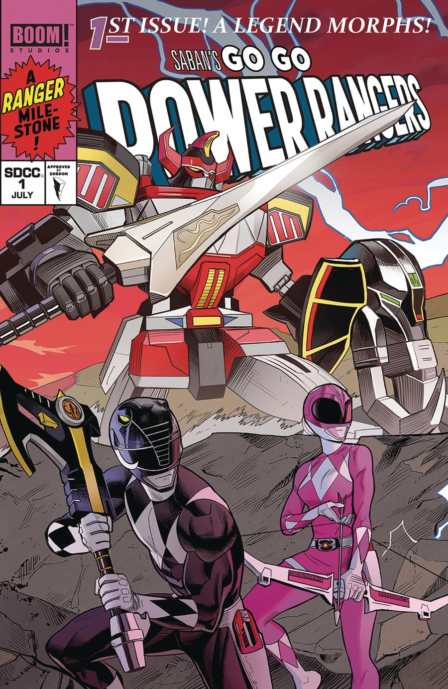 Sabans Go Go Power Rangers #1 Cover I SDCC Exclusive Dan Mora Connecting Variant Cover