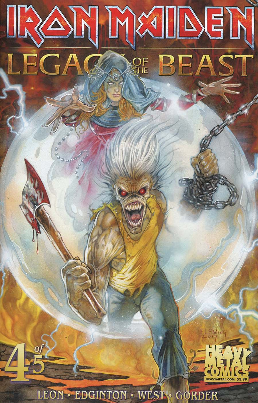 Iron Maiden Legacy Of The Beast #4 Cover A Regular Santi Casas Cover