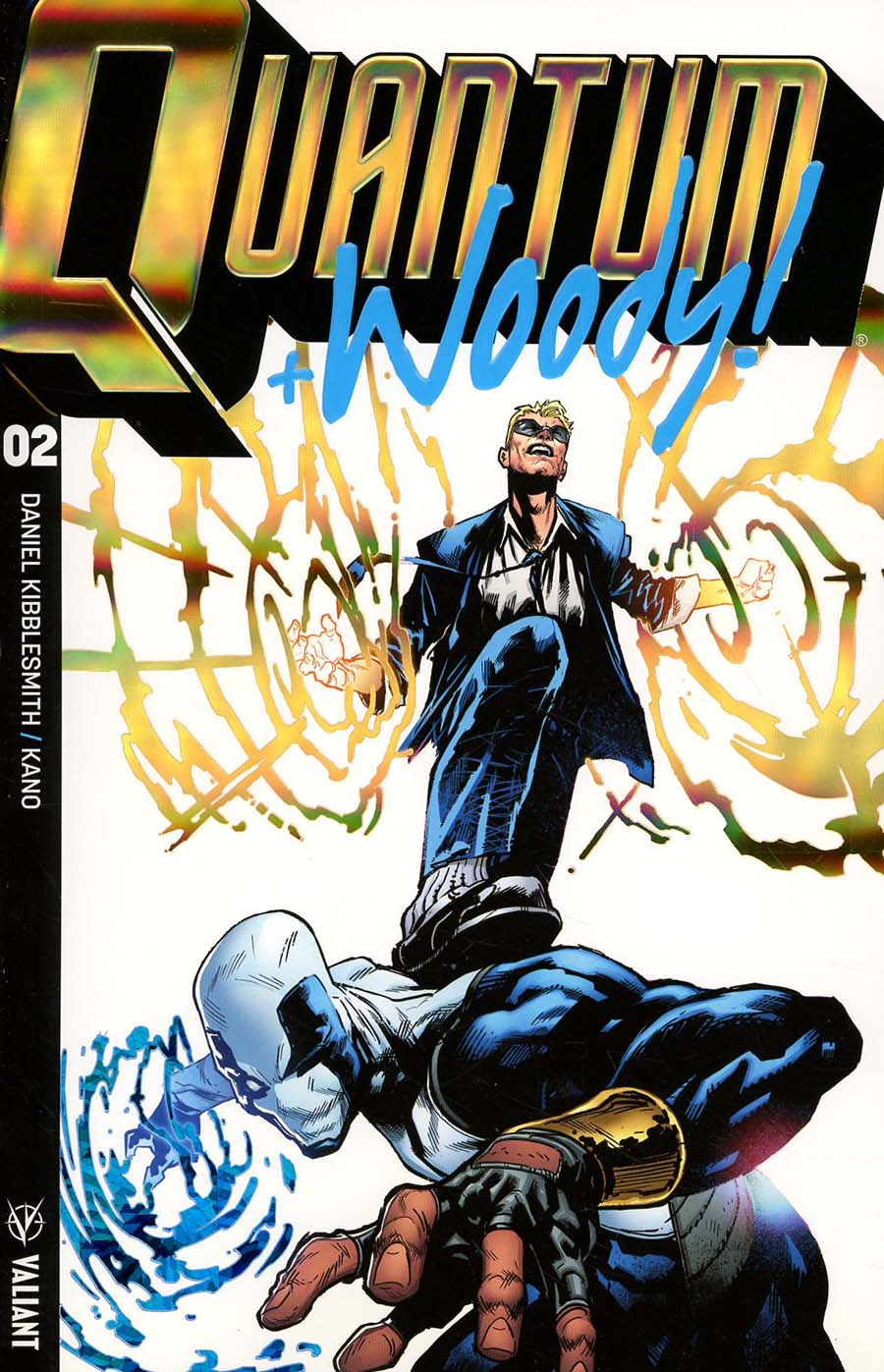 Quantum & Woody Vol 4 #2 Cover B Variant Geoff Shaw Extreme Ultra-Foil Cover