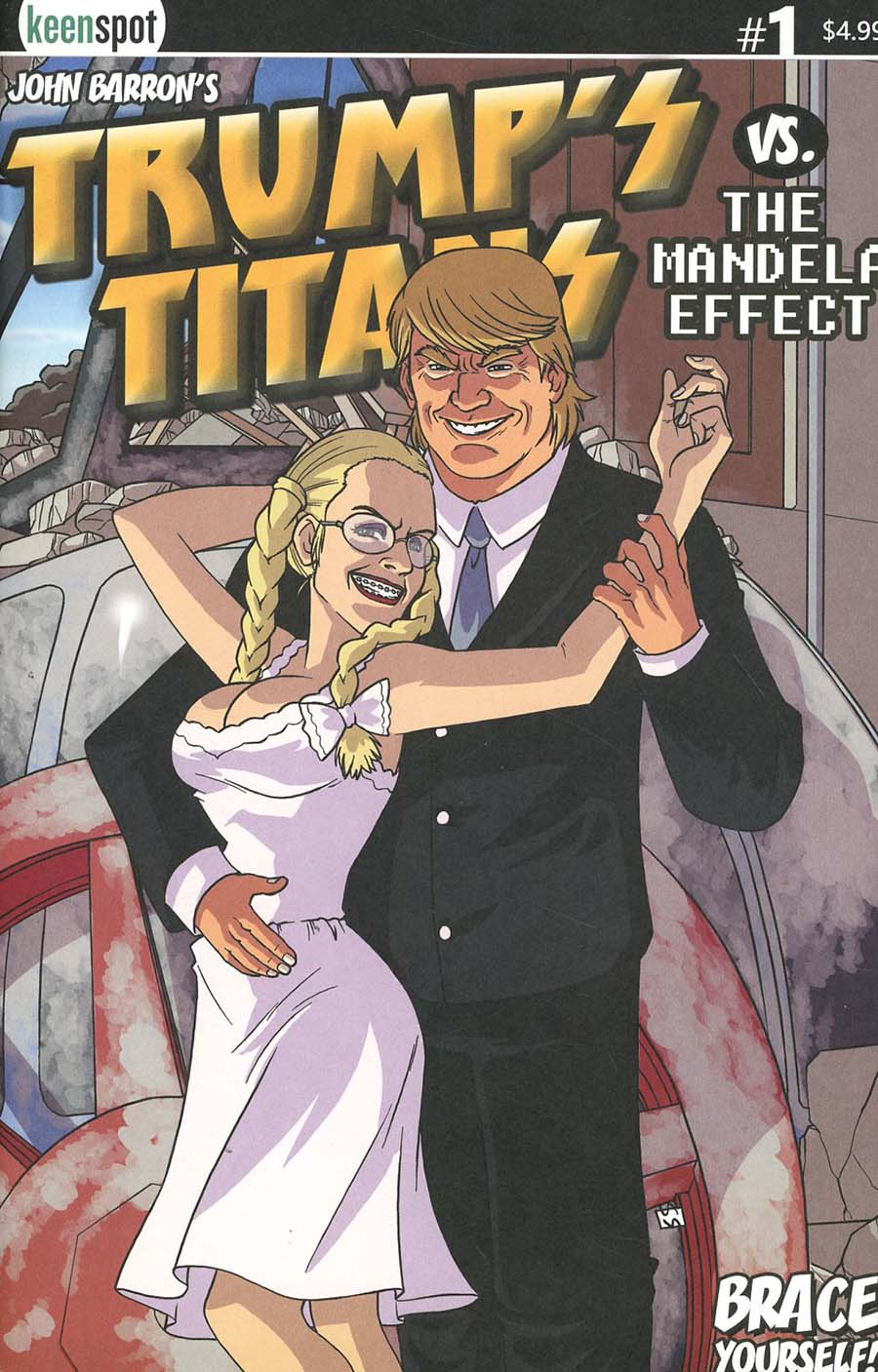 Trumps Titans vs The Mandela Effect #1 Cover B Variant Hello Dolly Cover