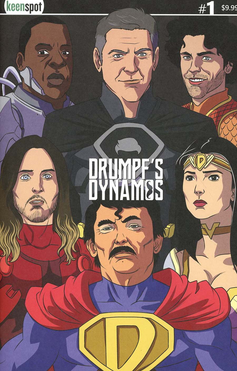 Trumps Titans vs The Mandela Effect #1 Cover C Variant Drumpfs Dynamos Cover