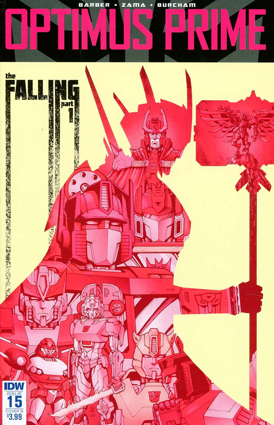 Optimus Prime #15 Cover B Variant Casey W Coller Cover