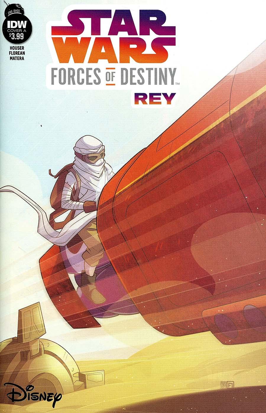 Star Wars Adventures Forces Of Destiny Rey Cover A Regular Arianna Florean Cover