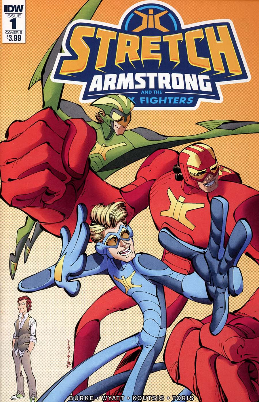 Stretch Armstrong And The Flex Fighters #1 Cover B Variant Nikos Koutsis Cover