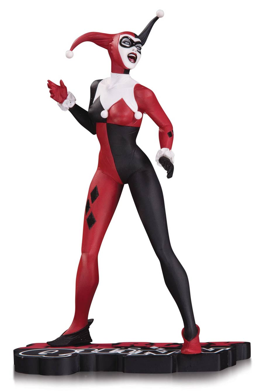 Harley Quinn Red White And Black Statue By Jae Lee