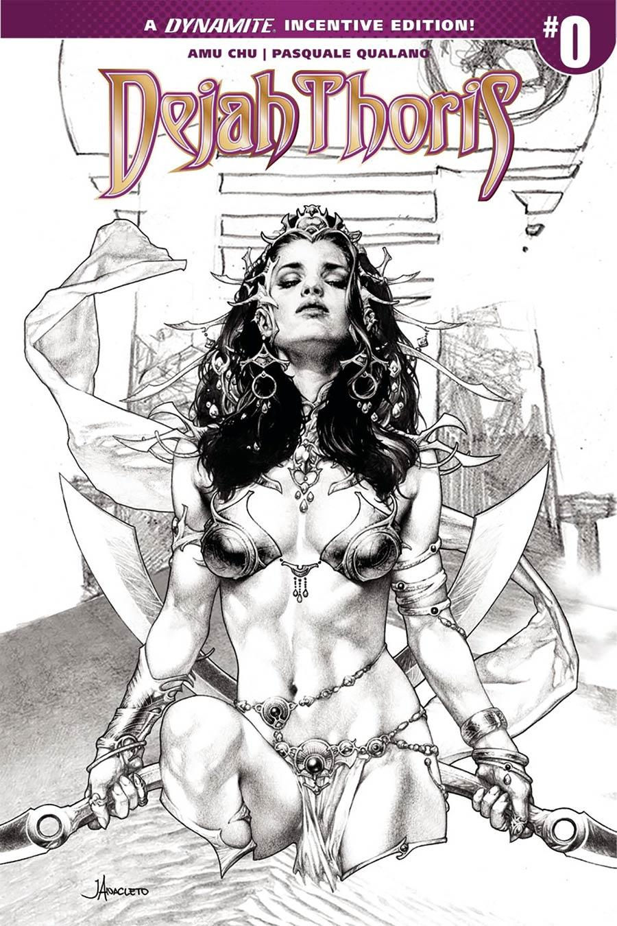 Dejah Thoris Vol 2 #0 Cover B Incentive Jay Anacleto Black & White Cover
