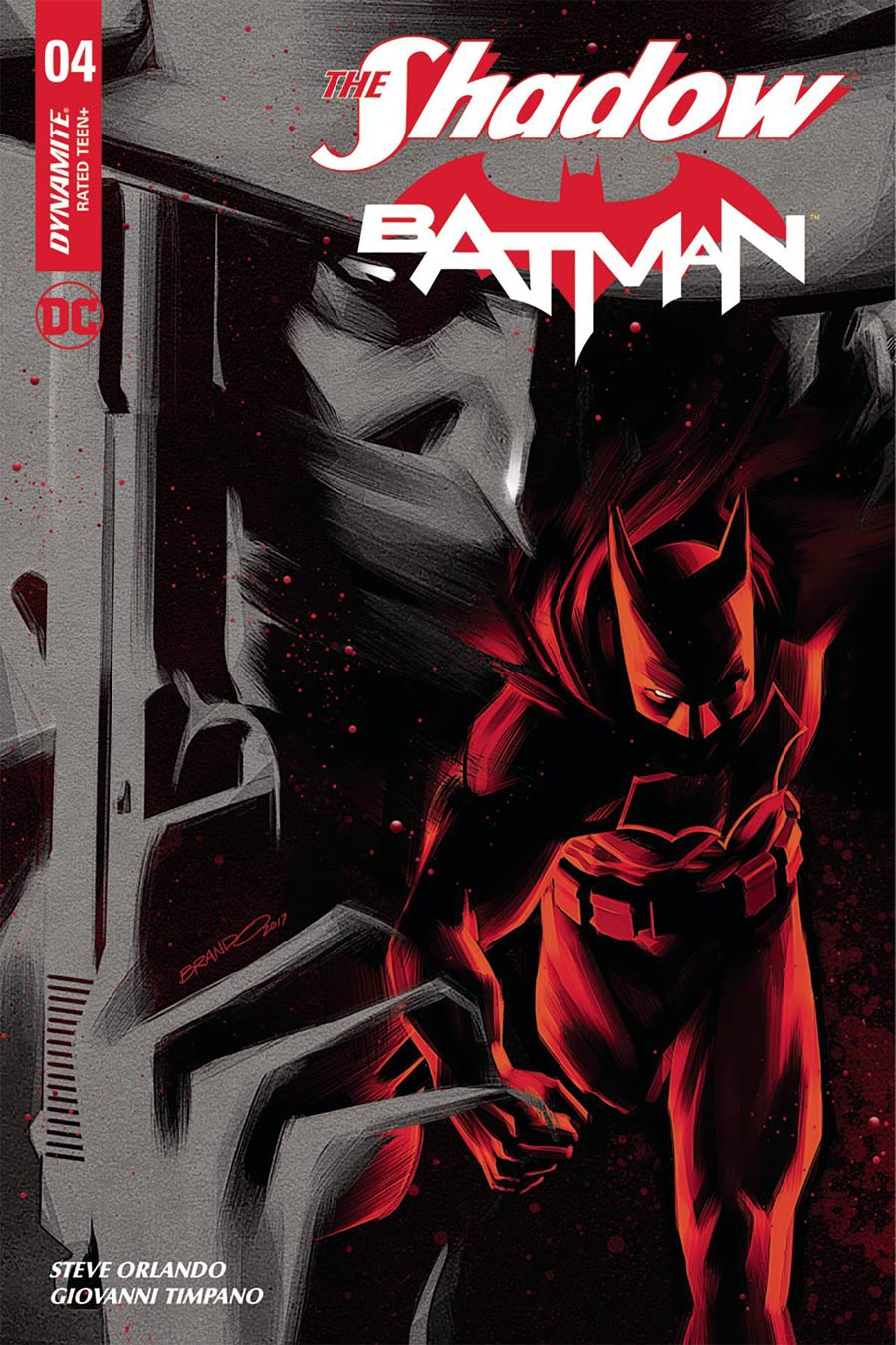 Shadow Batman #4 Cover I Incentive Brandon Peterson Black Red Cover