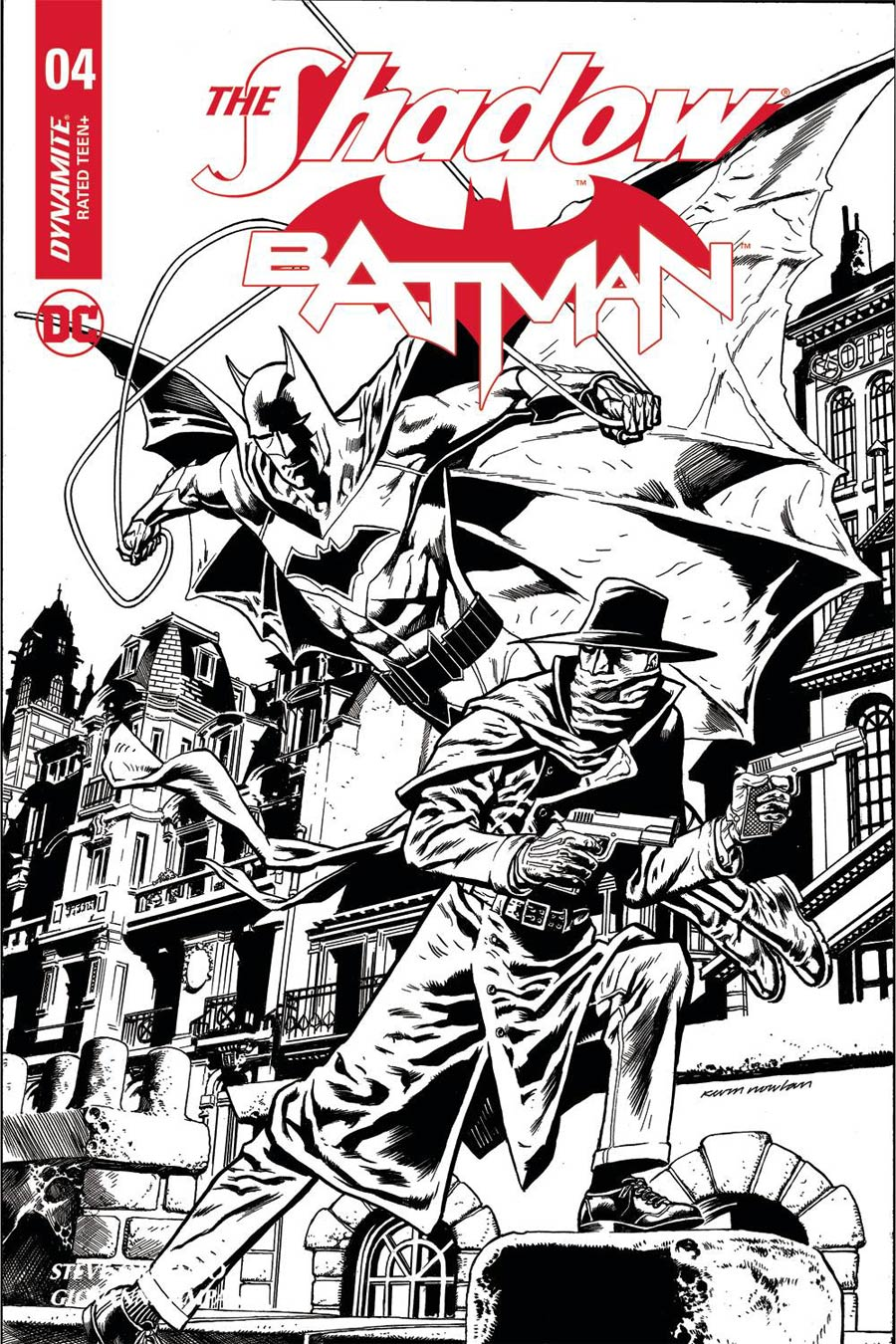 Shadow Batman #4 Cover J Incentive Kevin Nowlan Black & White Cover