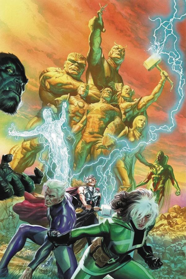 Avengers Vol 6 #675 Cover K DF Signed By Mark Waid (No Surrender Part 1)(Marvel Legacy Tie-In)