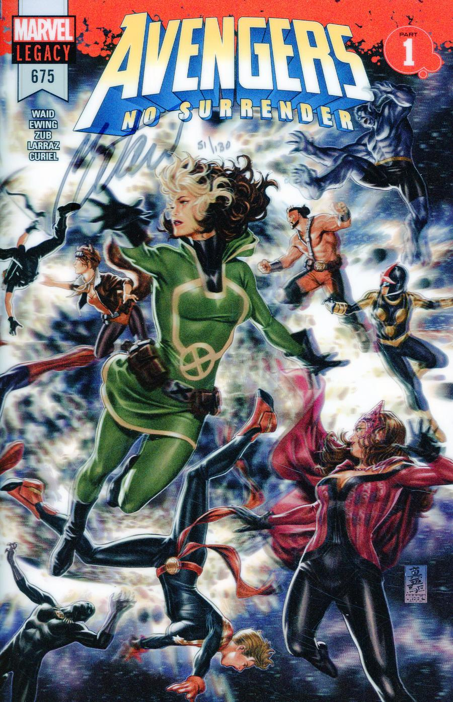 Avengers Vol 6 #675 Cover L DF Silver Signature Series Signed By Mark Waid (No Surrender Part 1)(Marvel Legacy Tie-In)