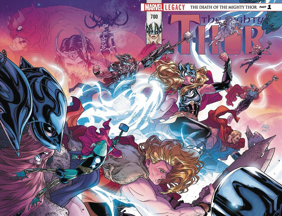 Mighty Thor Vol 2 #700 Cover L DF Signed By Walter Simonson (Marvel Legacy Tie-In)