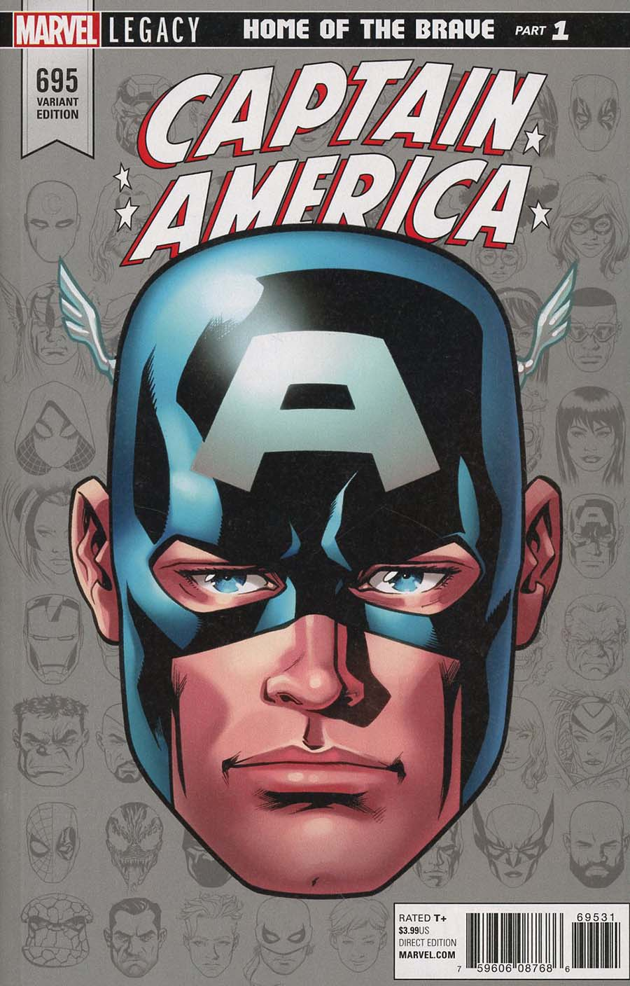 Captain America Vol 8 #695 Cover E Incentive Mike McKone Legacy Headshot Variant Cover (Marvel Legacy Tie-In)