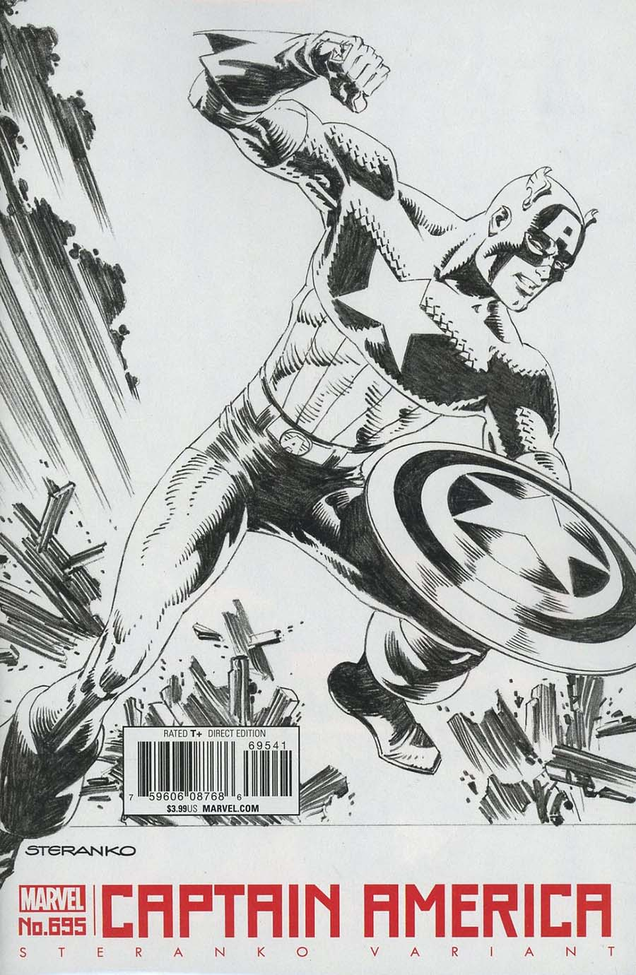 Captain America Vol 8 #695 Cover G Incentive Jim Steranko Variant Cover (Marvel Legacy Tie-In)