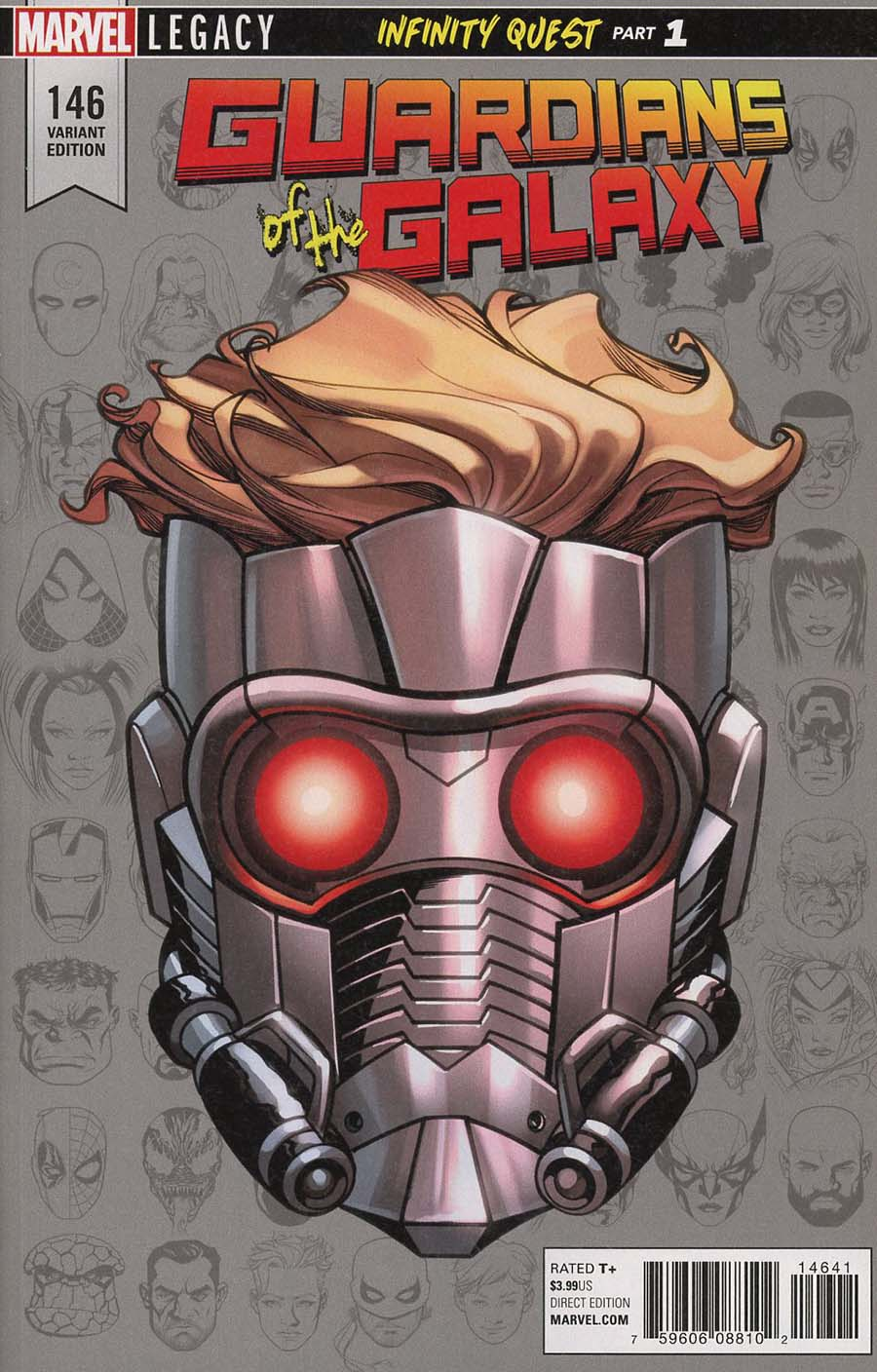 Guardians Of The Galaxy Vol 4 #146 Cover C Incentive Mike McKone Legacy Headshot Variant Cover (Marvel Legacy Tie-In)