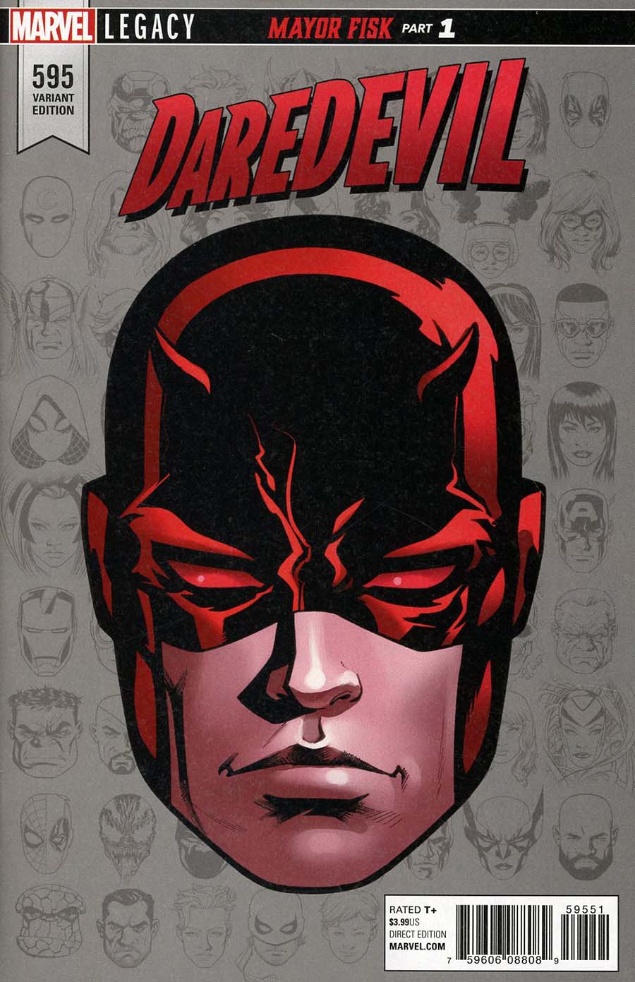 Daredevil Vol 5 #595 Cover D Incentive Mike McKone Legacy Headshot Variant Cover (Marvel Legacy Tie-In)