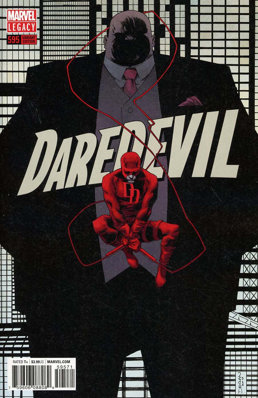 Daredevil Vol 5 #595 Cover E Incentive Incentive Declan Shalvey Variant Cover (Marvel Legacy Tie-In)