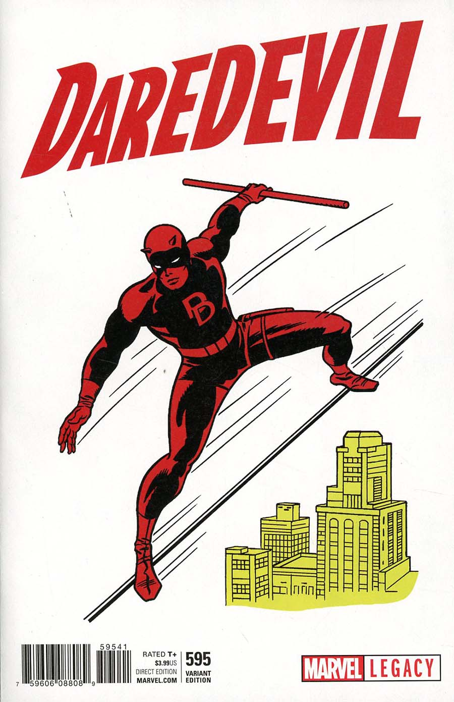 Daredevil Vol 5 #595 Cover F Incentive Jack Kirby 1965 T-Shirt Variant Cover (Marvel Legacy Tie-In)