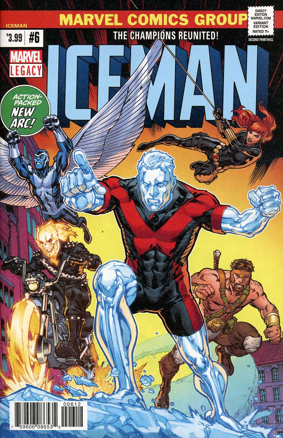 Iceman Vol 3 #6 Cover D 2nd Ptg Variant Michael Ryan Cover (Marvel Legacy Tie-In)