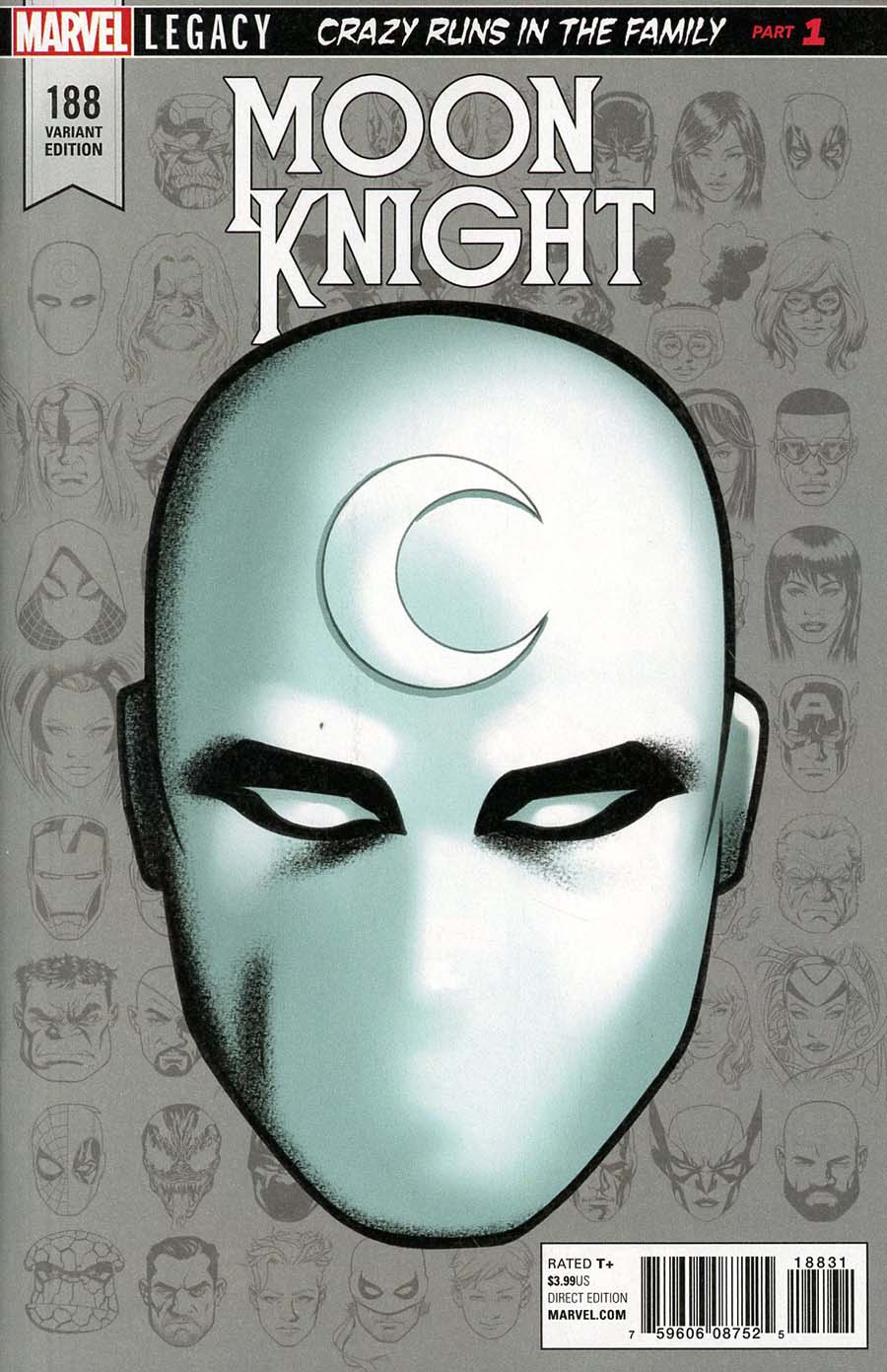Moon Knight Vol 8 #188 Cover D Incentive Mike McKone Legacy Headshot Variant Cover (Marvel Legacy Tie-In)