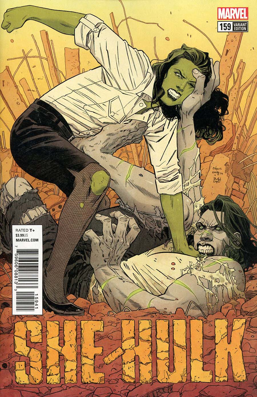 She-Hulk Vol 3 #159 Cover E Incentive Bilquis Evely Variant Cover (Marvel Legacy Tie-In)