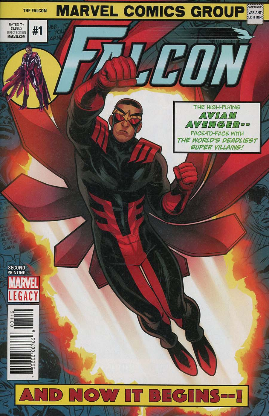 Falcon Vol 2 #1 Cover H 2nd Ptg Variant Elizabeth Torque Cover (Marvel Legacy Tie-In)