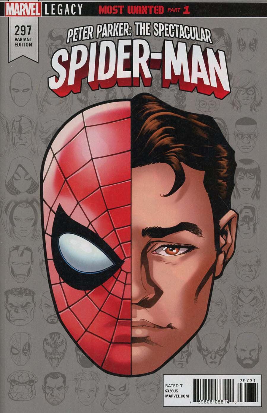 Peter Parker Spectacular Spider-Man #297 Cover C Incentive Mike McKone Legacy Headshot Variant Cover (Marvel Legacy Tie-In)