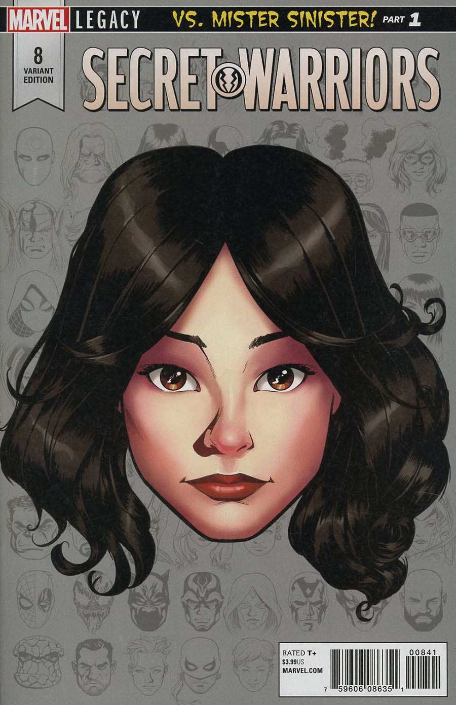Secret Warriors Vol 2 #8 Cover C Incentive Mike McKone Legacy Headshot Variant Cover (Marvel Legacy Tie-In)